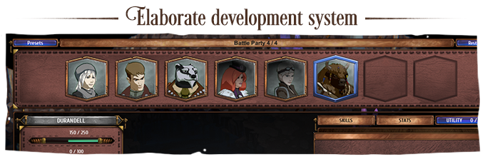 A character development system with a huge scope for customization that offers complete control over how combat plays out