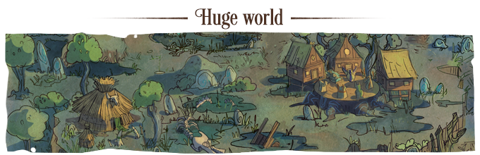 Explore vast locations packed with secrets, quests, and rewards