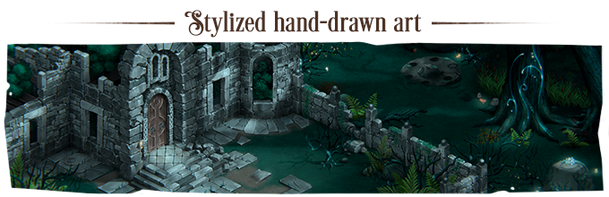 A living world where the environment, characters, and animations are hand-drawn and carefully put together by our artists to create the atmosphere for your journey