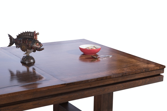 Dining Table in Cherry With Two-Piece Top