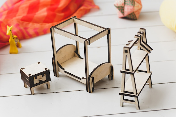 Furniture pieces and free forms made with the interior of a bed room in mind.