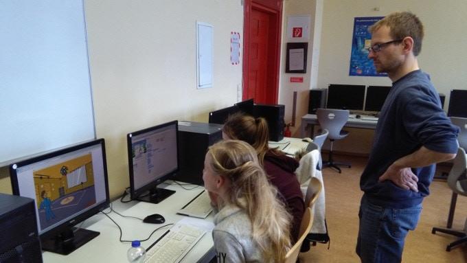 Programmierkurs in einer Leipziger Schule