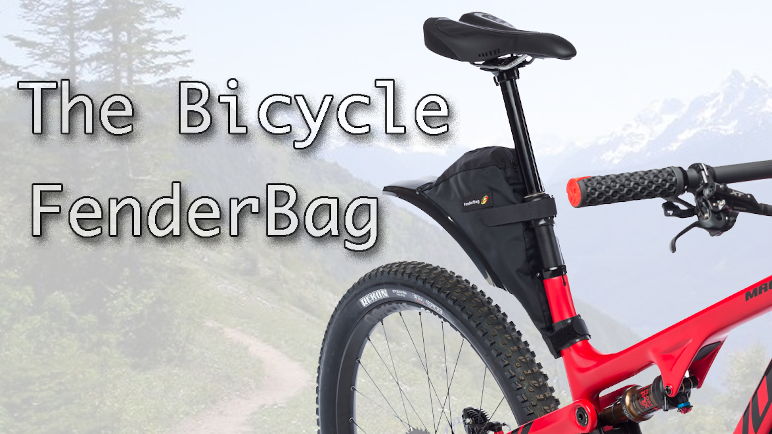 The Bicycle FenderBag: An innovative on the bike storage solution for mountain bikes.
