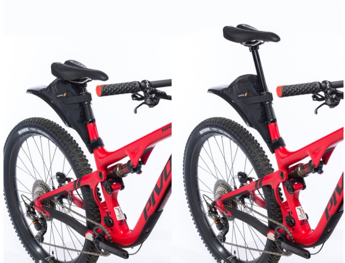 FenderBag on full suspension bike