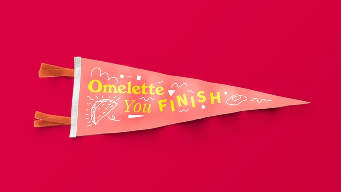 Custom 9x27 pennant produced with our friends at Oxford Pennant
