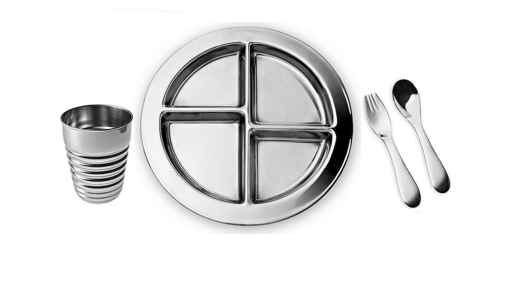 GoHappyPlate Stainless Steel Kids Utensils