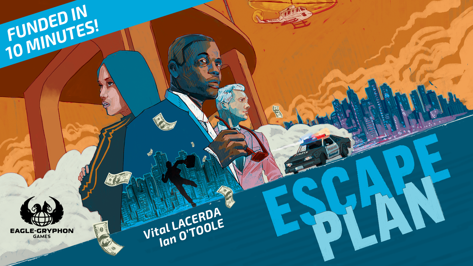 Plan your escape as you race against other players to regain stashed cash and flee the city in this new strategy game by Vital Lacerda.