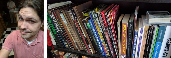 Me and one shelf of my roleplaying books. No, YOU have a problem.