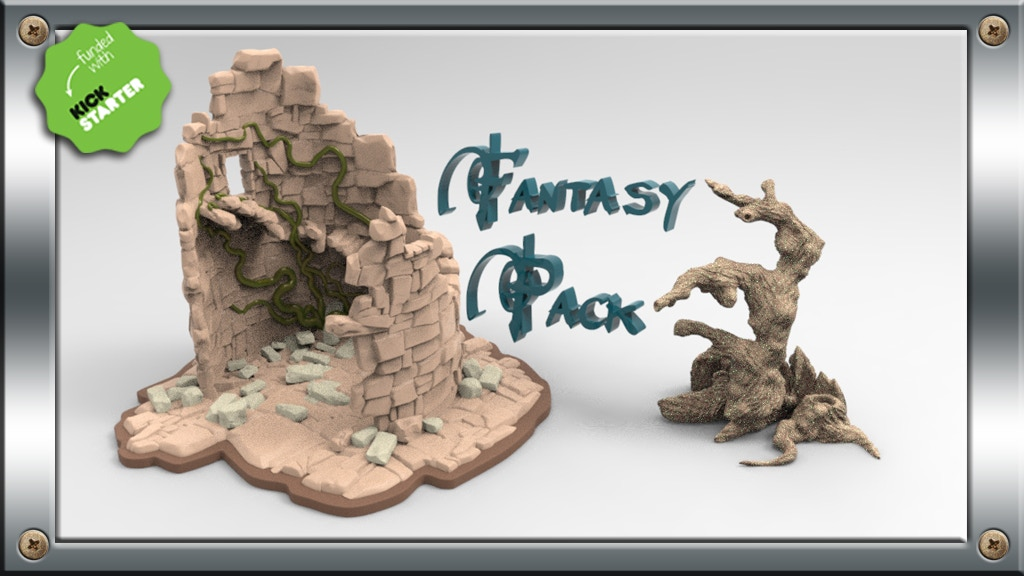 3d Printable Files STL for Fantasy Scenery project video thumbnail
