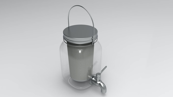 3D CAD File of Cold Brew on Tap 2.0