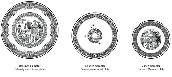 Size of previous plates compared to Dubious Musicians plates.