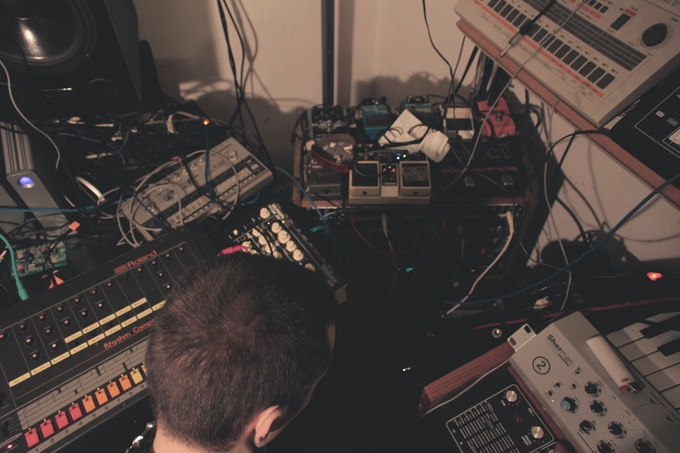 in the studio, 2014