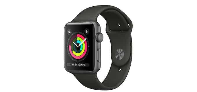 Apple Watch Sport - Fluroelastomer band. (For illustration purpose only )