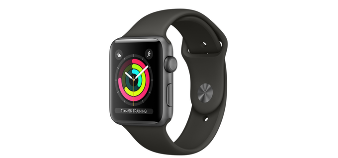 Apple Watch Sport - Fluroelastomer band. (For illustration purpose only )