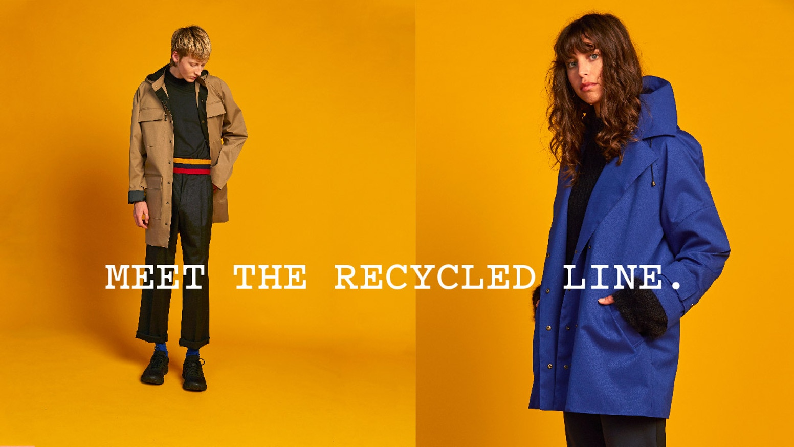 Waterproof, seam-sealed raincoats from Wellington, New Zealand that intercept plastic bottles from the waste stream.