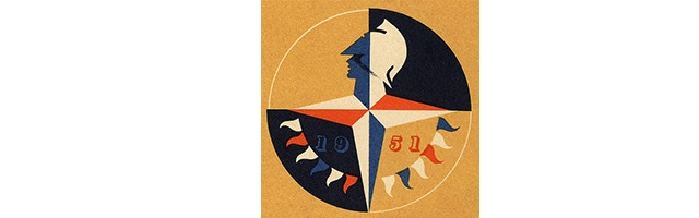The Festival of Britain emblem, designed by Abram Games