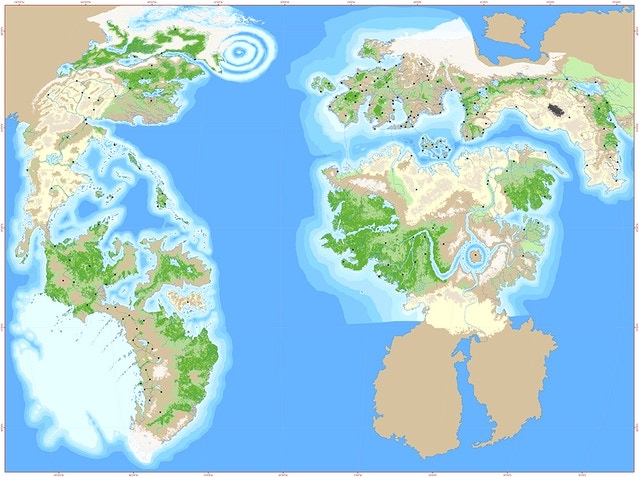 Full Map Of The World.Kickstarter Update 68 Full Map Of Terra Preview 7th Sea 2nd Edition
