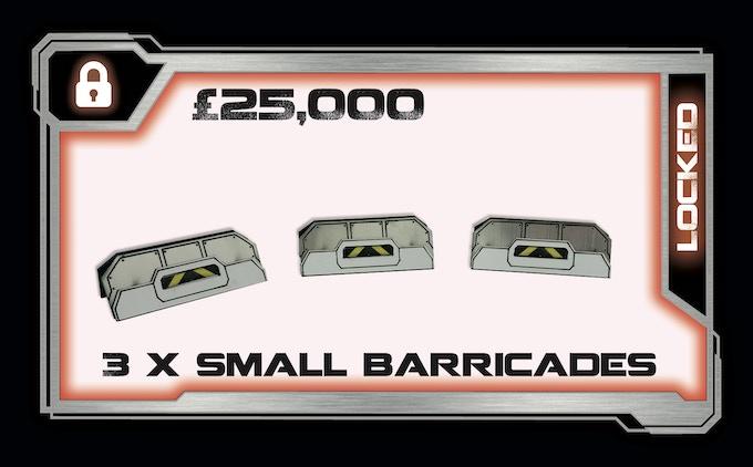 3 x Small Plastic Laminate Barricades