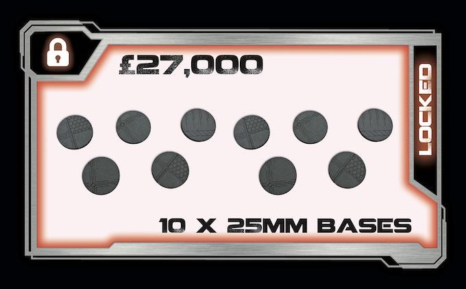 10 x 25mm MDF Bases