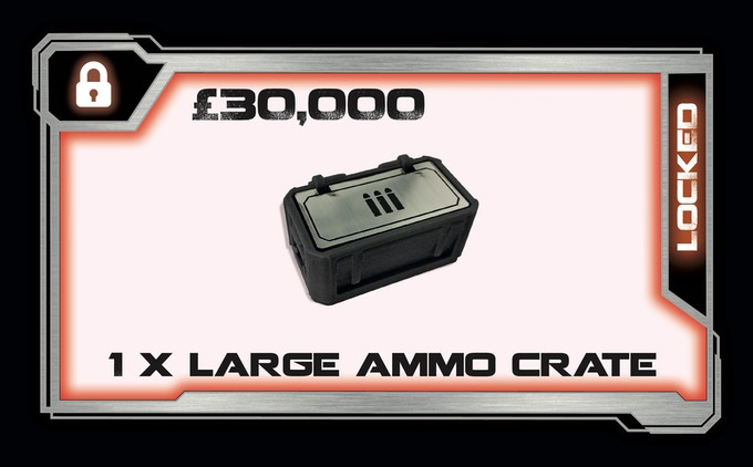 1 x Pre painted Resin & Laminate Large Ammo Crate