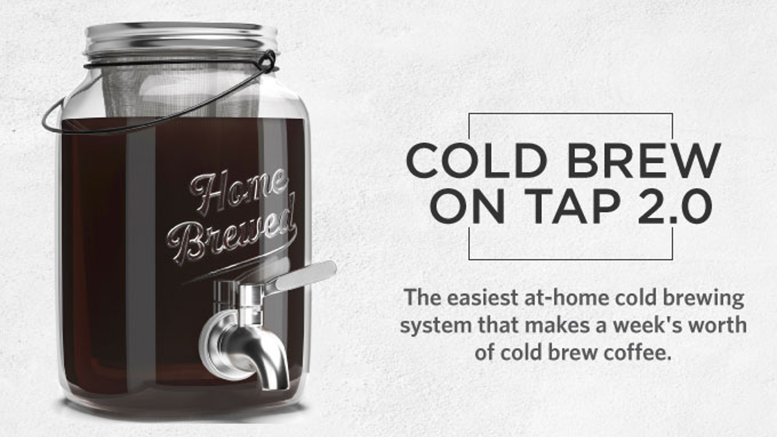 The perfect and mess-free way to easily brew, store and serve up a week's worth of delicious homemade cold brew coffee.