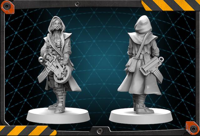 Doktor Carmen Sunyer Figur 3d rendern.