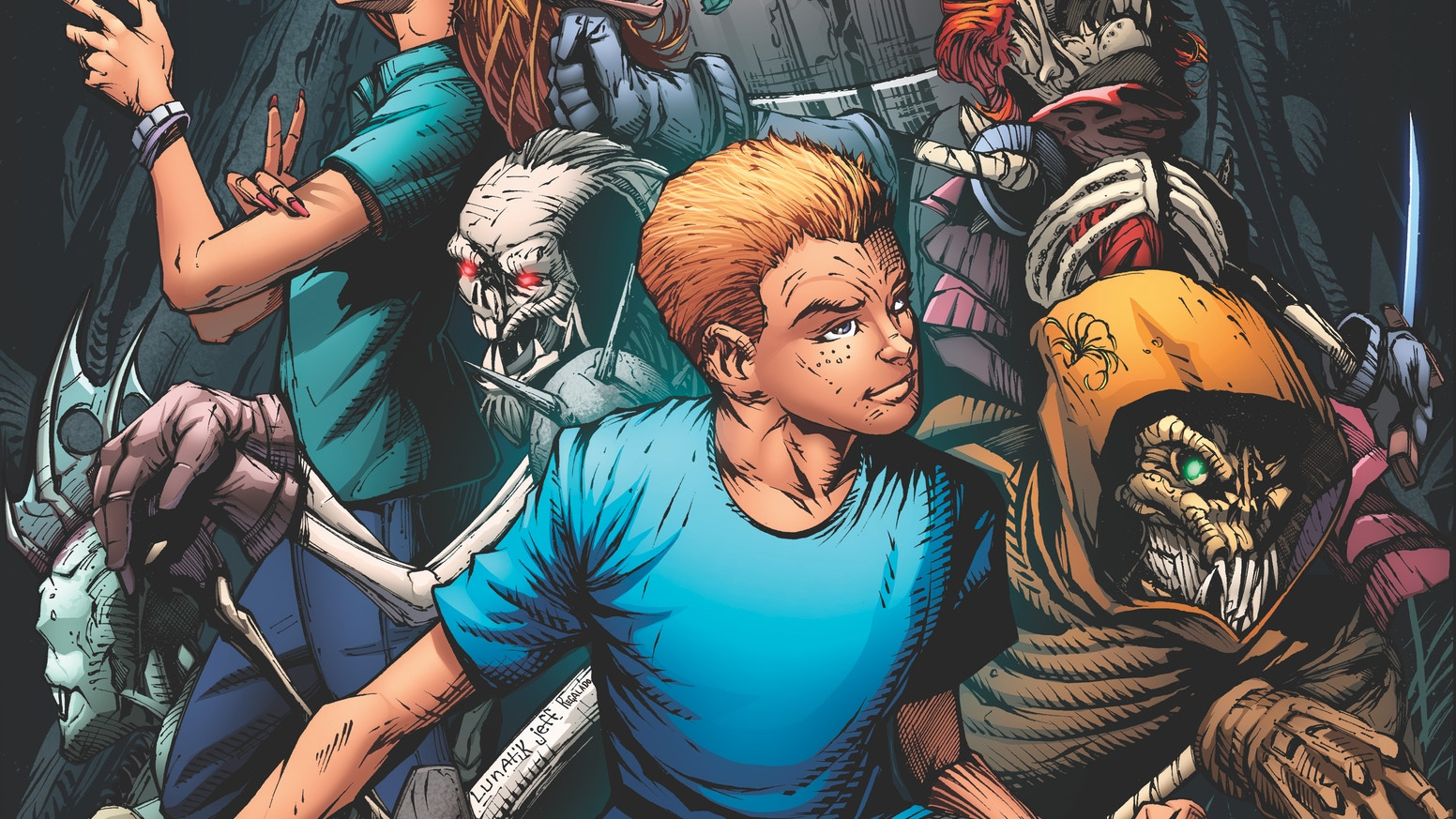 Issue #1 in a 6 issue comic book miniseries that finds Joshua, a young boy, plunged in to a world he thought was only a card game.