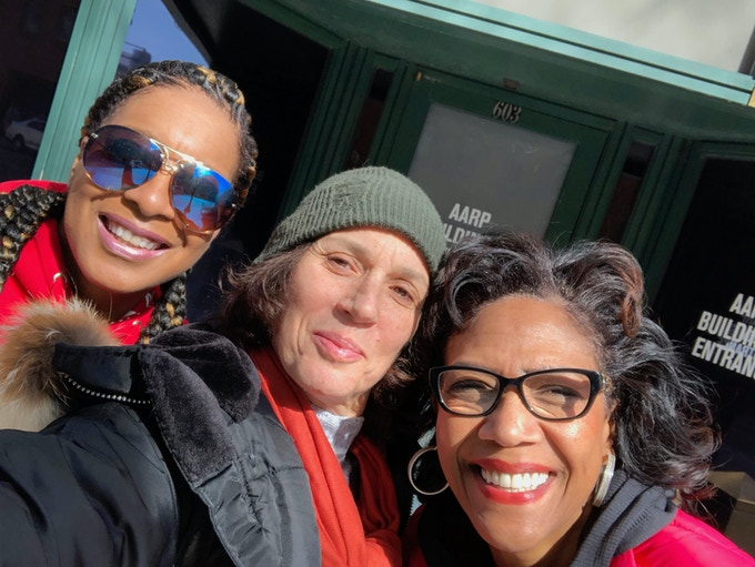 Janice Roots (Personal Friend), Pamela French (Director), Tanzie Youngblood at the March for Our Lives in Washington, DC 4-24-18