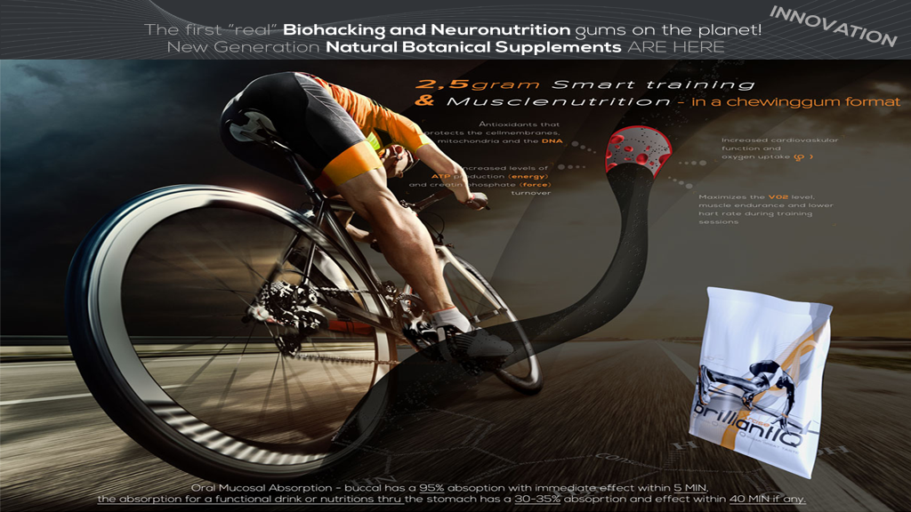 Superinnovation - Sport- & Neuronutrition in a 2.5 g gum