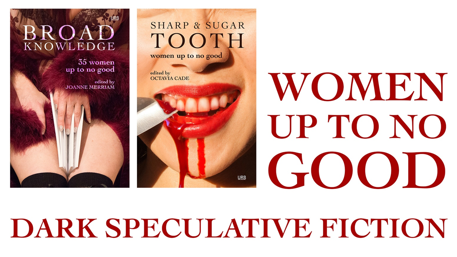The Women Up To No Good series are anthologies of dark fiction by marginalized voices.