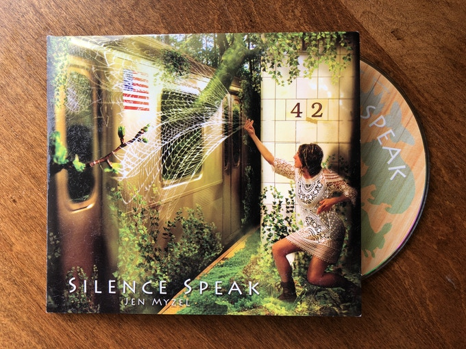 Jen Myzel's last album, Silence Speak, which is inspired by Joanna Macy's Work that Reconnects. A lyrical web of folk, harmony, spoken word, and electronic beats.