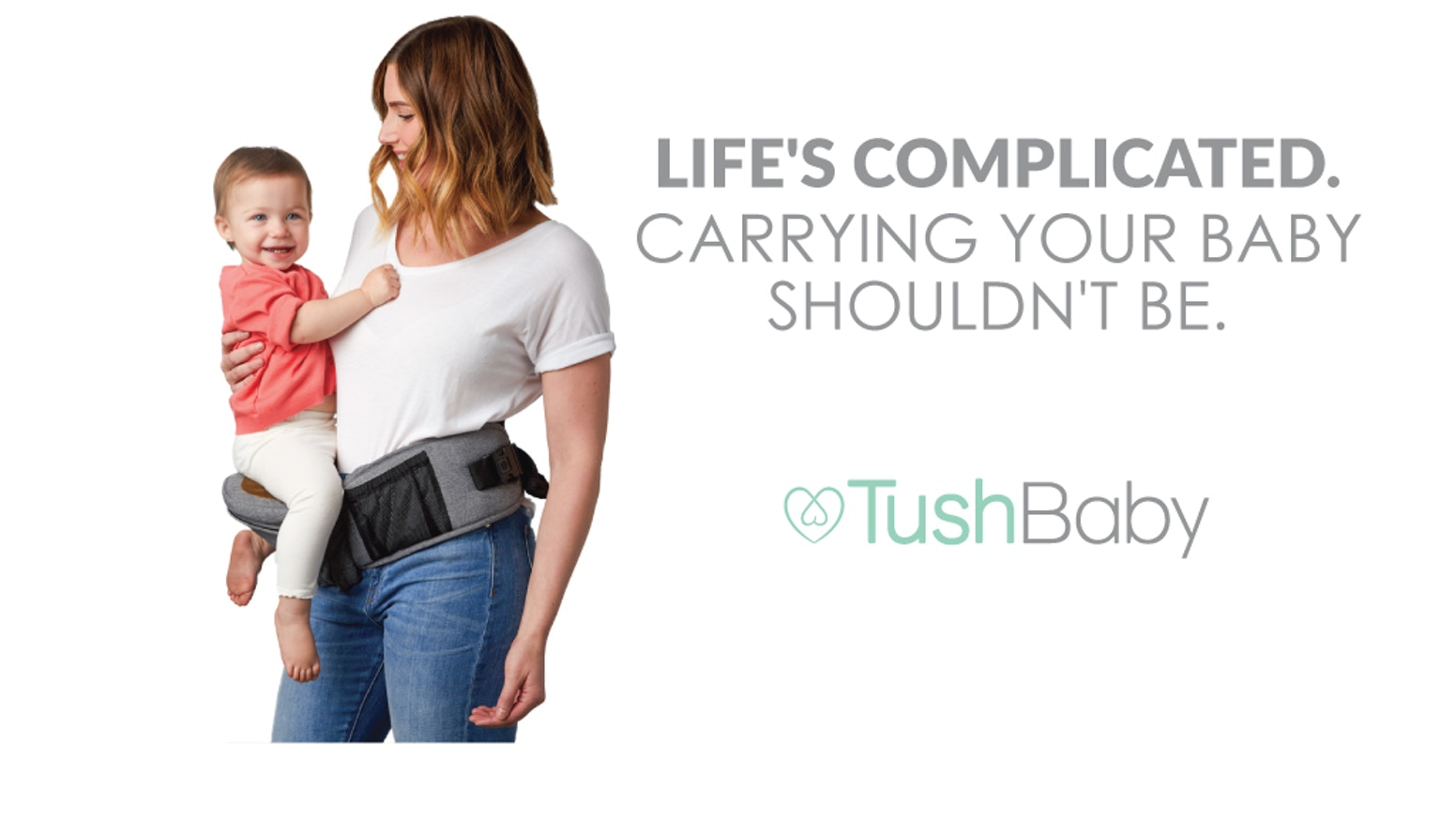 TushBaby is a unique, strapless baby carrier that helps you carry your kids comfortably & easily access the things you need.