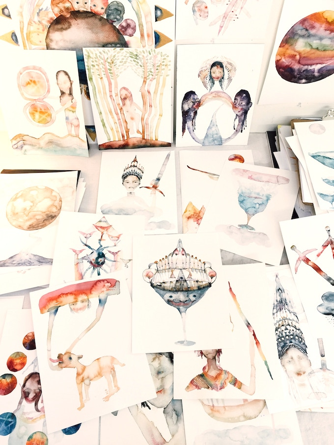 Image of some of the original watercolors