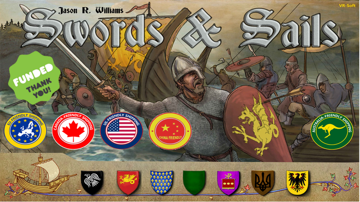 Swords & Sails is an epic conquest and diplomacy game about leading your armies and fleets through medieval Europe in 1000 AD.