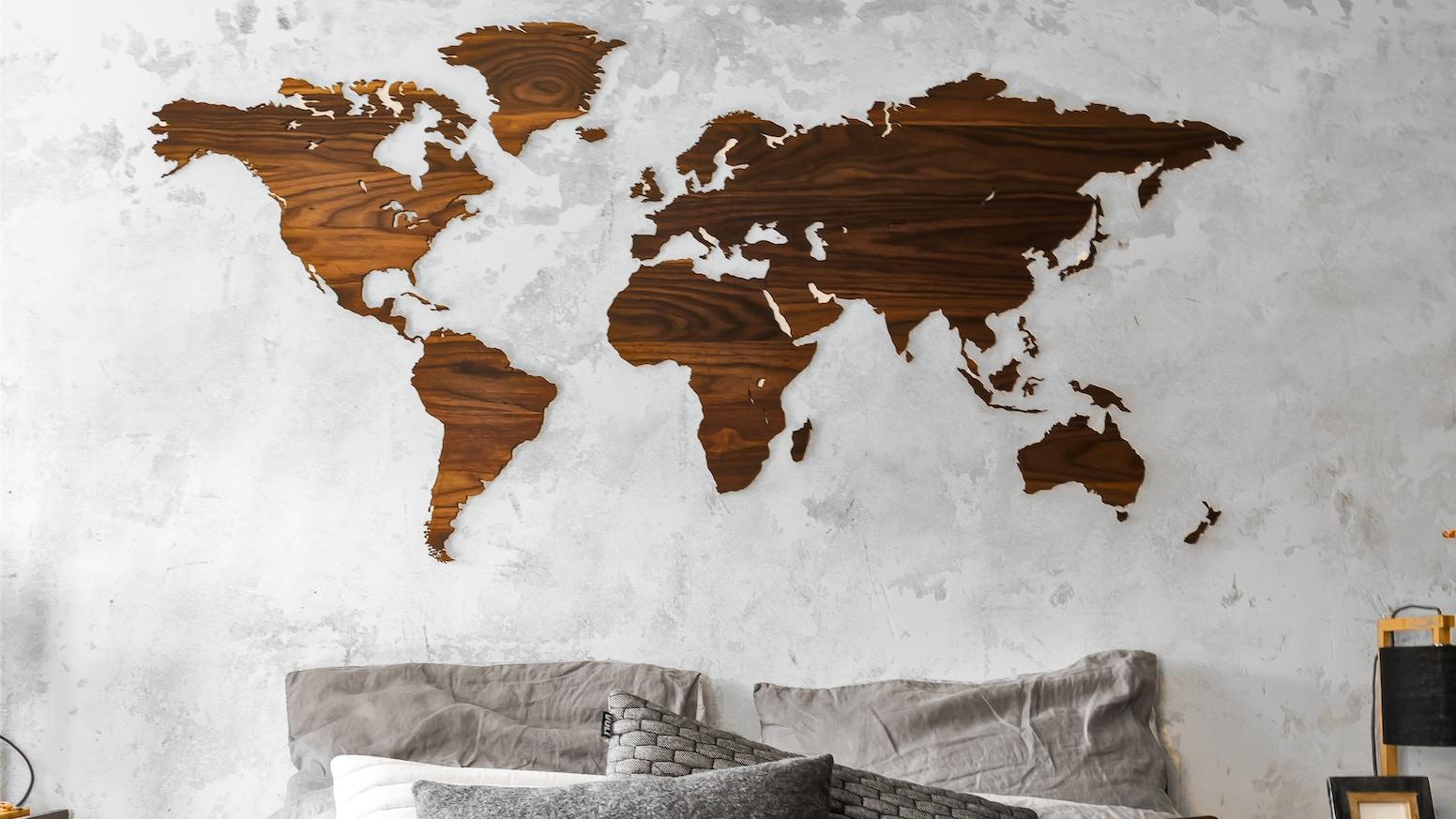 My Wooden World | Luxurious wooden world maps by Maarten van Rooyen on