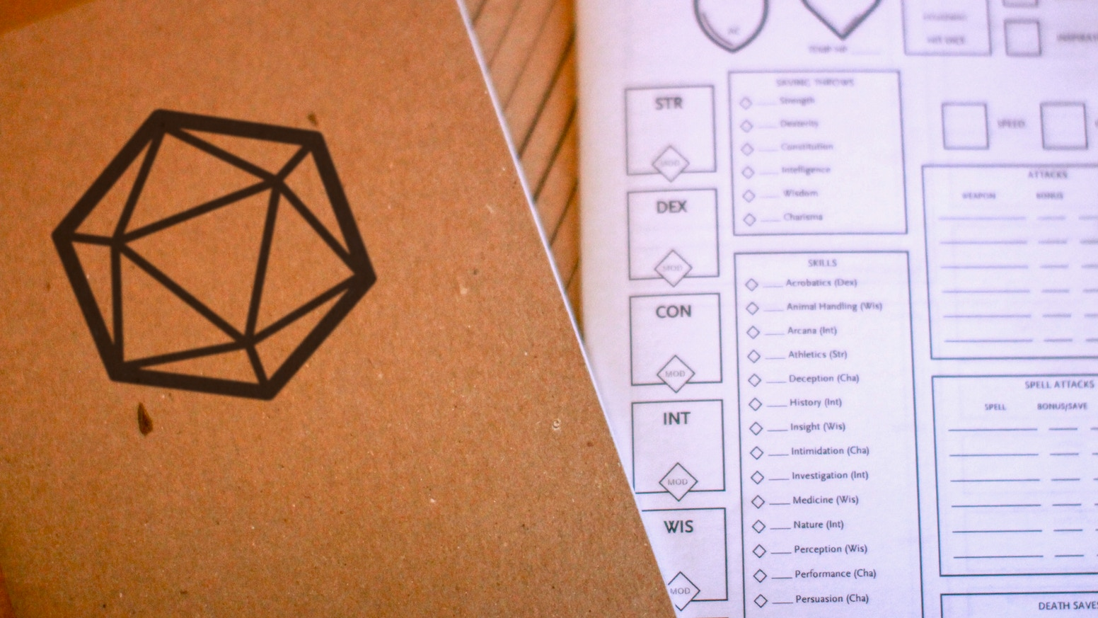 Chronicle the mighty deeds of your RPG character and your epic campaign in this character journal and notebook for tabletop.