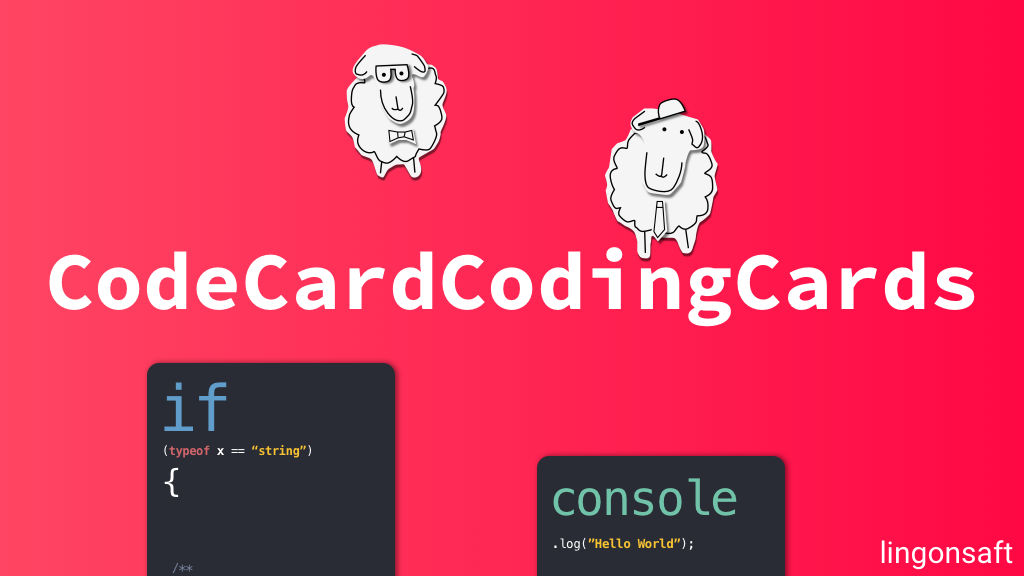 CodeCardCodingCards by Lingonsaft