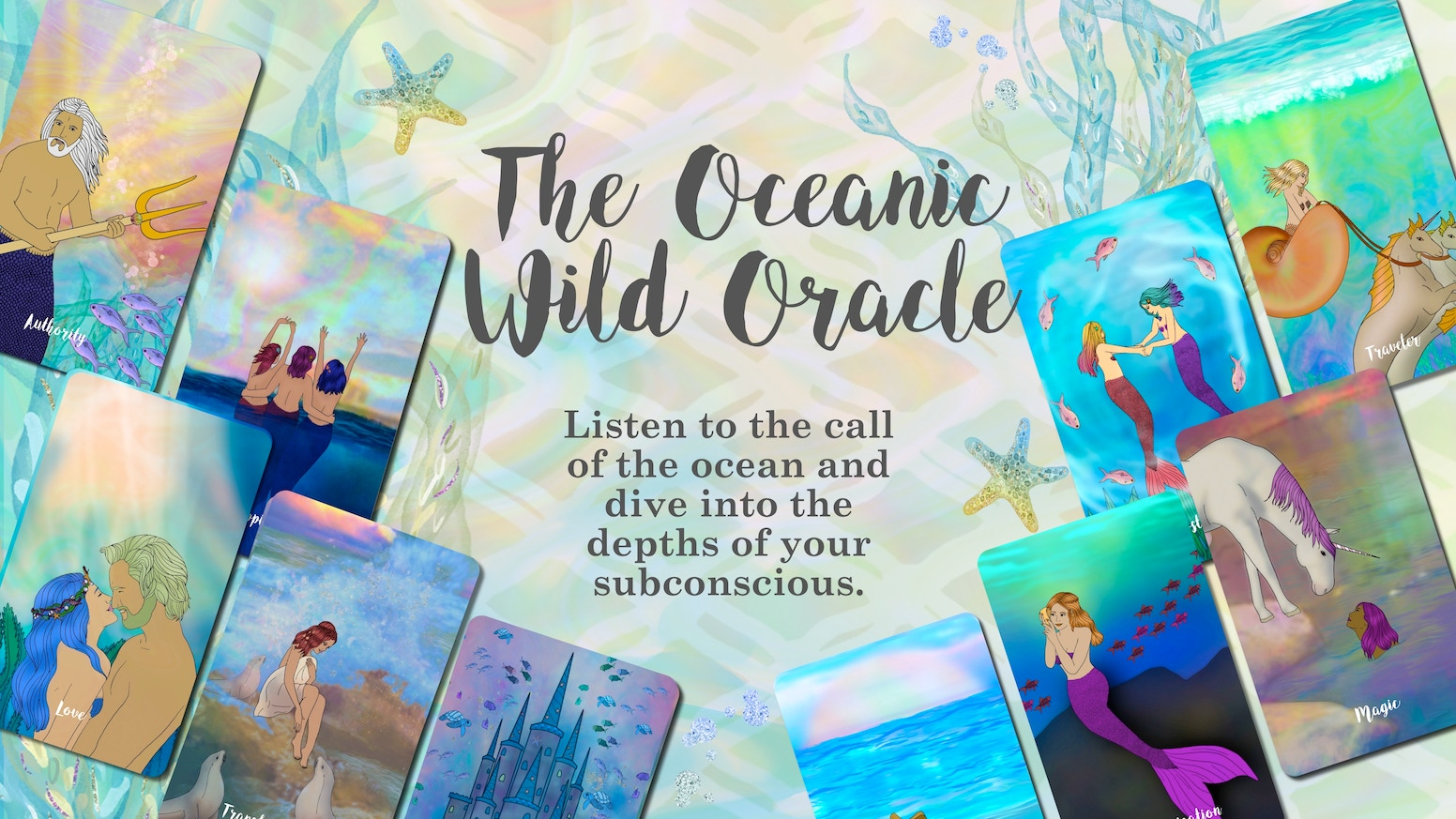 An enchanting mermaid style deck that can easily be used out of the box for anyone wanting to dive into their subconscious for answers.