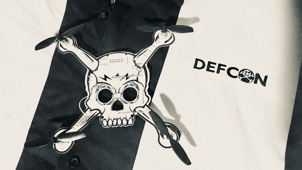 DEFCON 26 Flying Electronic Quad Copter Skull Badge project video thumbnail