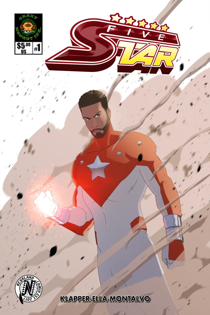 FIVESTAR #1 Now available for Print and digital download exclusively thru www.crazymonkeyink.com