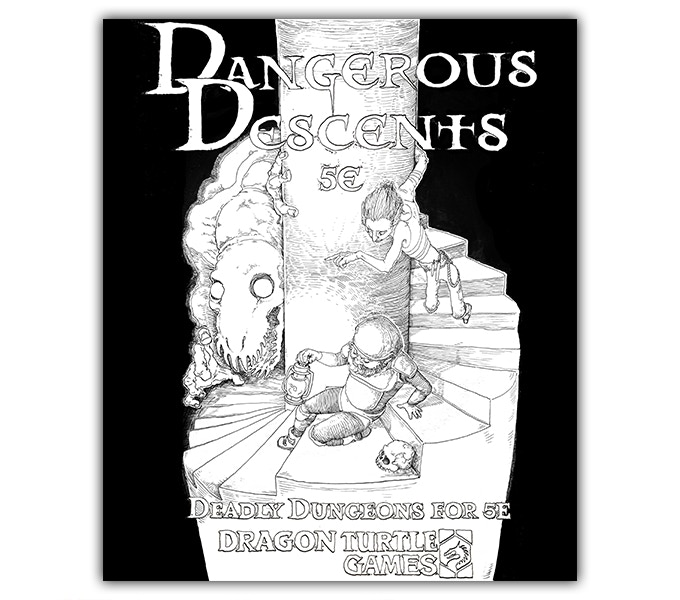 Dangerous Descents' art is by the incredibly talented Mo Morrell