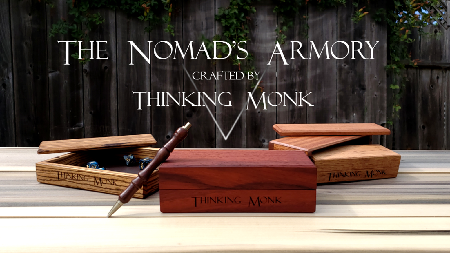 The Nomad's Armory is a handcrafted, compact dice box and tray for people who play tabletop RPGs.