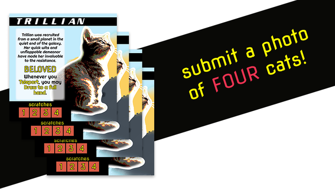 9d2f8b61bbe5 After the Kickstarter campaign ends, you will submit a photo for each cat,  which we will then turn into custom character sheets and playable tokens  that you ...