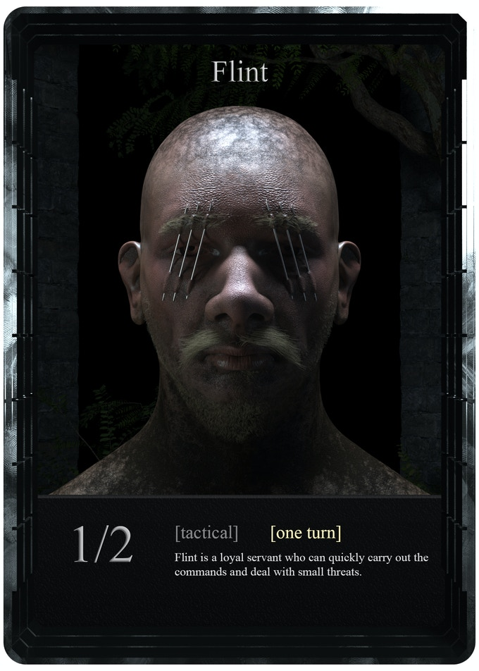 Flint is the only card of the game which can be activated on a first timer and can be used instantly. There will be 6 of them in one player's deck.