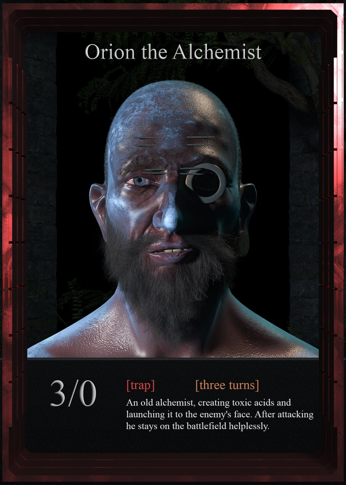Orion acts as a single-use nuker, being able to inflict some serious damage. There will be 2 of them in one player's deck.