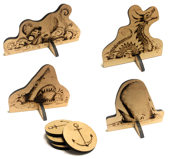 Limited Edition Laser Cut Monster and Anchor Tokens