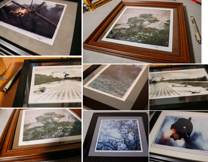 Custom framing of your photograph is a reward as well...