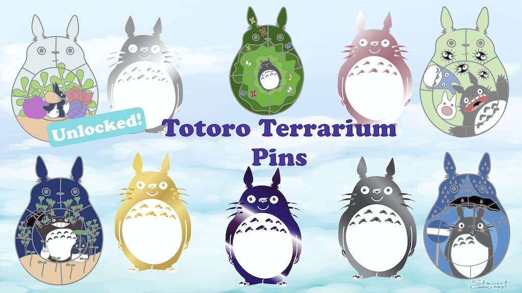 Project image for Totoro Terrarium Studio Ghibli Hard Enamel Pin Series (Canceled)
