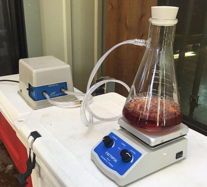 Vacuum Evaporator Test