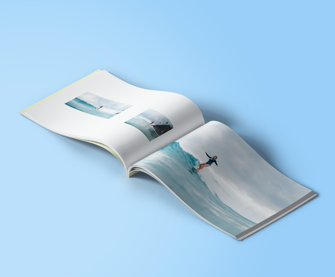 Mockup of pages in Issue 001